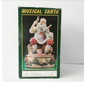 Musical Santa Figurine 1994 St Nicholas & Me Music